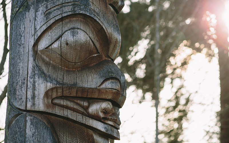 Totem pole at UBC's Museum of Anthropology
