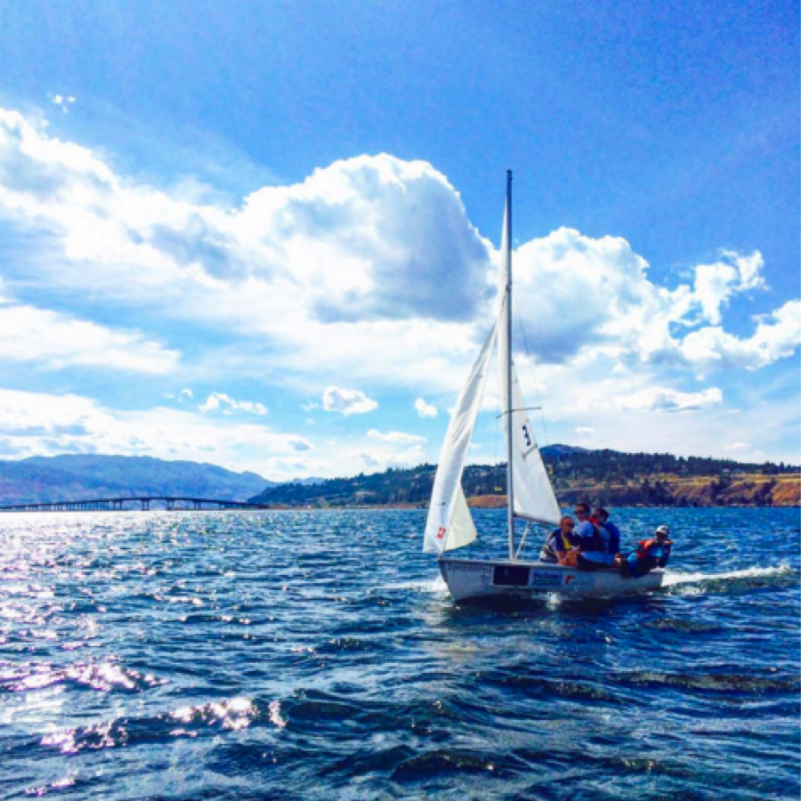 Best way to beat the okanagan heat #myubco #sailing #lakeokanagan #kelownafornia #kelowna #keepexploring #explorebc