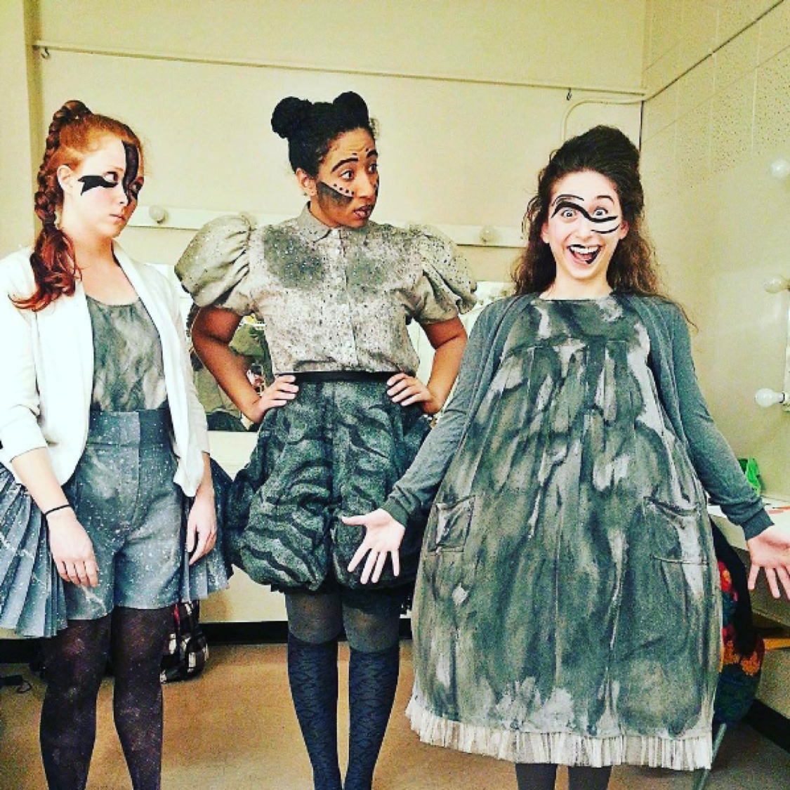 Meet the @theatreubc #eurydice ladies. #sassy #UBC #ubcartsculture #theatreubc #stagecrew #backstage #ubcfun