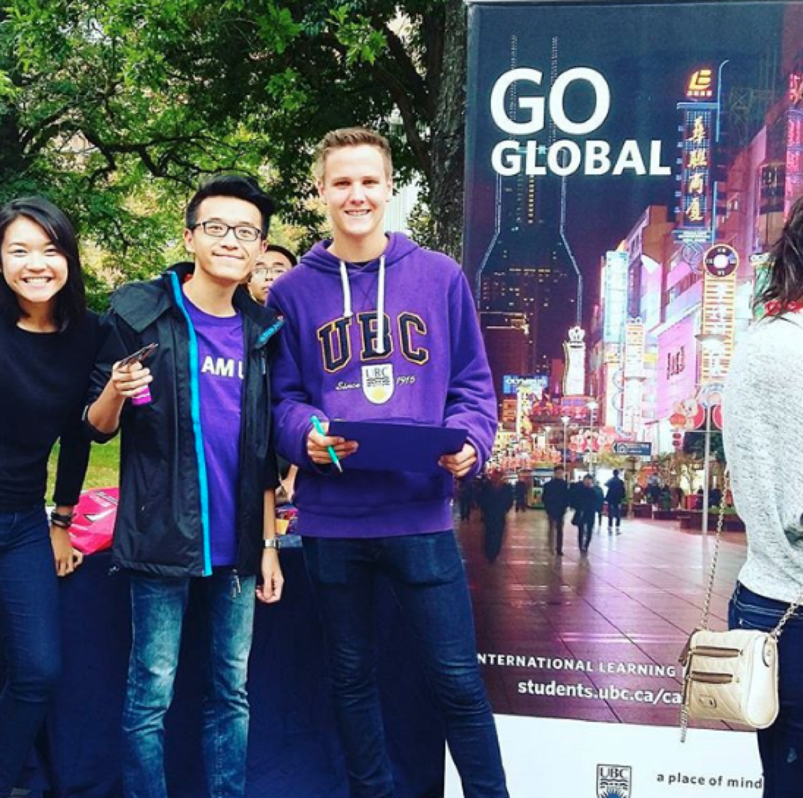 Interested in going for an exchange? Come visit us at the Go Global booth today! #goglobal #ubc #iamubc #imagineday