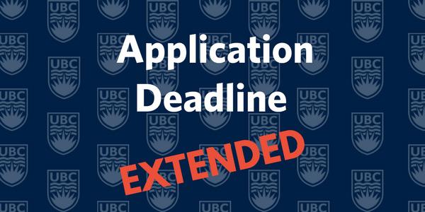 Application deadline extended to December 2