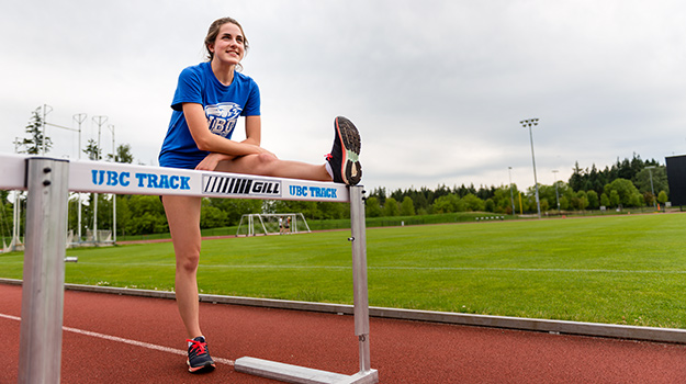 Katherine Tourigny, UBC Track and Field, UBC hurdles
