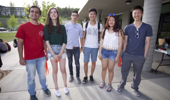 Students at Destination UBC